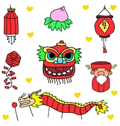 Doodle of chinese celebration vector