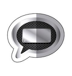 Emblem bubble with plaque icon vector