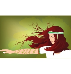 Ethnic girls vector image