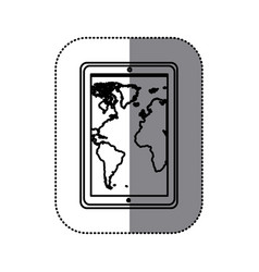 figure map in the smarphone icon vector image