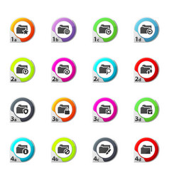 Folders icons set vector