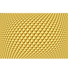 Geometric golden pattern vector