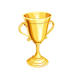 Gold champion cup vector