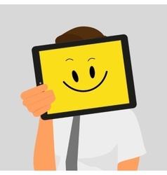 Guy with tablet pc vector image