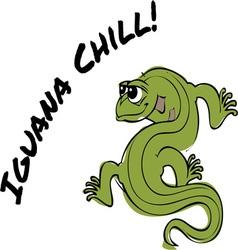 Iguana chill vector
