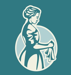 laundress vector image