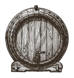 Oak barrel logo design template beer or vector