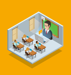Online learning room concept vector