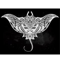 Ornate stingray fish vector