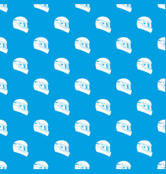 Racing helmet pattern seamless blue vector
