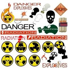 Radiation danger vector image vector image