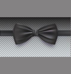 Realistic black bow tie vector