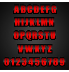 red font vector image