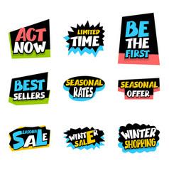 sale super big collection label seasonal offer vector image