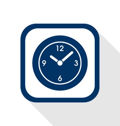 time flat icon vector image