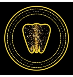 Tooth logo on yellow circle frame vector