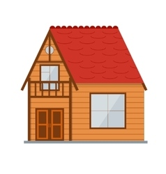 Wooden country house vector