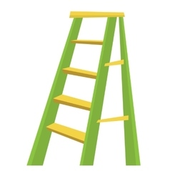 Metallic step ladder vector