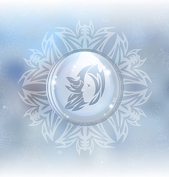 Snow globe with zodiac sign virgo vector