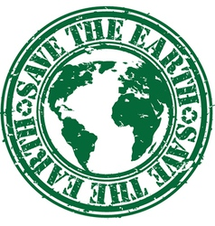 Save the planet stamp vector