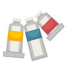 Three painting tubes isolated on white vector