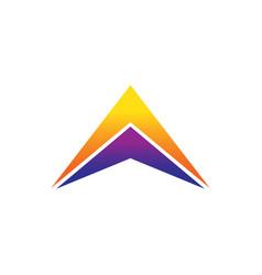 success triangle arrow business logo vector image