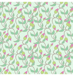 Flower bud leaves seamless vector