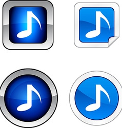 Music sound audio note tone vector