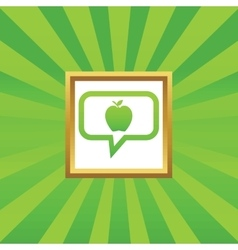 Apple message picture icon vector image