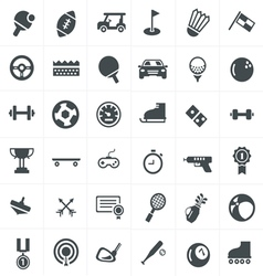 Sport icons set design vector