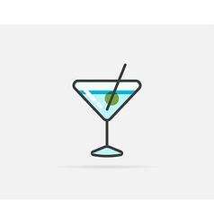 Cocktail can be used as logo or icon vector