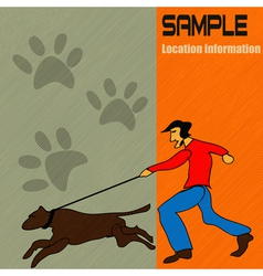 dog walking vector image