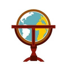 Antique earth globe icon vector