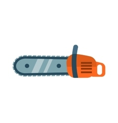 Hand saw chainsaw flat isolated on white vector