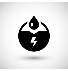 Generation of electricity icon vector