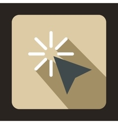Cursor arrow selection icon flat style vector