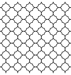 Black and white arabic traditional geometric vector