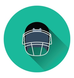American football helmet icon vector