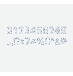 Alphabet abc font type numbers characters vector