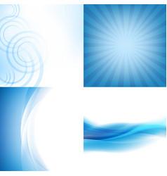 Blue backgrounds set vector