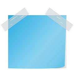 Blue post it vector