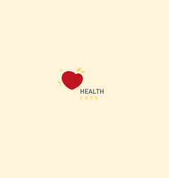 Bright logo on medicine and health vector