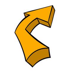 Broken yellow arrow icon icon cartoon vector