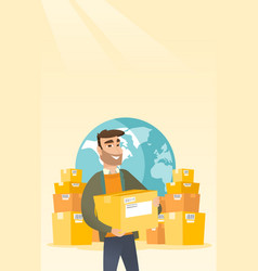Business worker of international delivery service vector