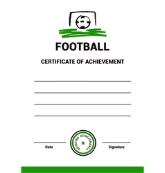 Certificate template football vector