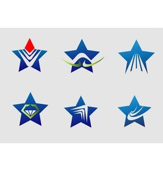 Collection star logo icon element set vector image vector image