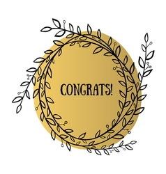 Congrats wreath vector image vector image