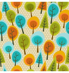 Cute multicolored forest pattern vector image