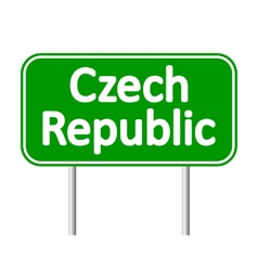 Czech republic road sign vector
