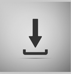 Download icon upload button load symbol vector